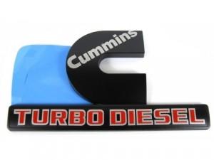 Nameplates,OEM 3500 BLACK CUMMINS TURBO DIESEL Emblems NEW Dodge Ram 2500