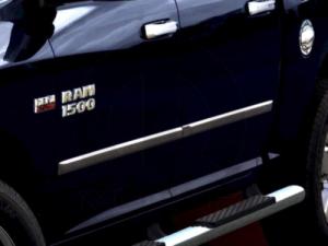Fits Ram 2500-3500 2010-2018 8 Box Crew Chrome Body Side Molding Door Guard Moulding Cover Trim Door Protector My Car My Way
