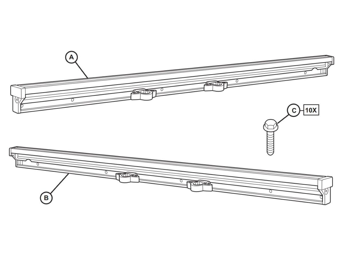 DODGE RAM 1500 DT Left Bed-Side Rail NEW OEM MOPAR