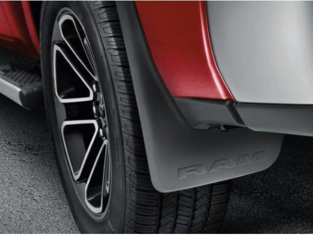 Mopar 82215489AB Ram 1500 Rear Deluxe Molded Splash Guards For Trucks W//Fender Flares